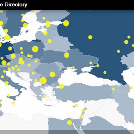 ინტერნეტის გაცვლის წერტილები მსოფლიო რუკაზე